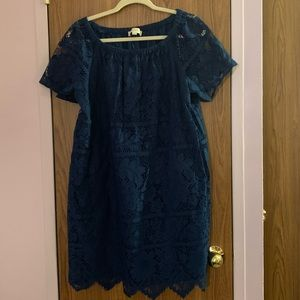 🌺LOFT Blue laced dress size Large🌺